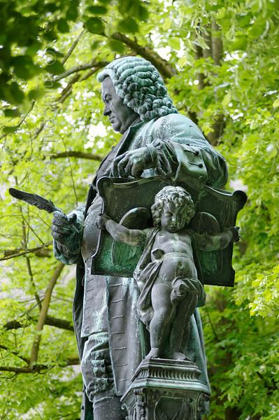 Bach monument in Eisenach.