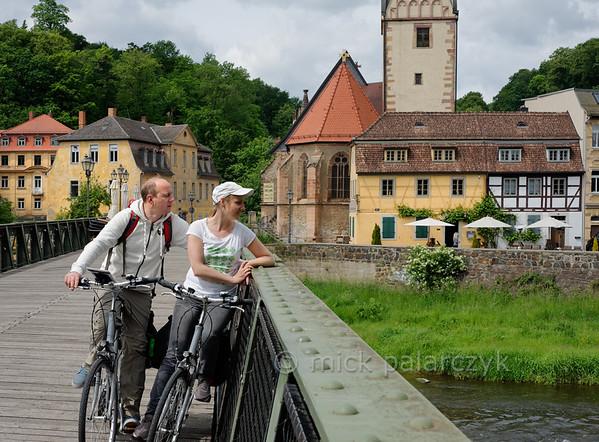 Bridge across the Weisse Elster in  Gera.