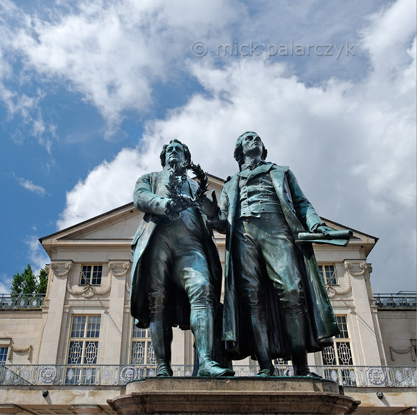 Goethe and Schiller in Weimar.