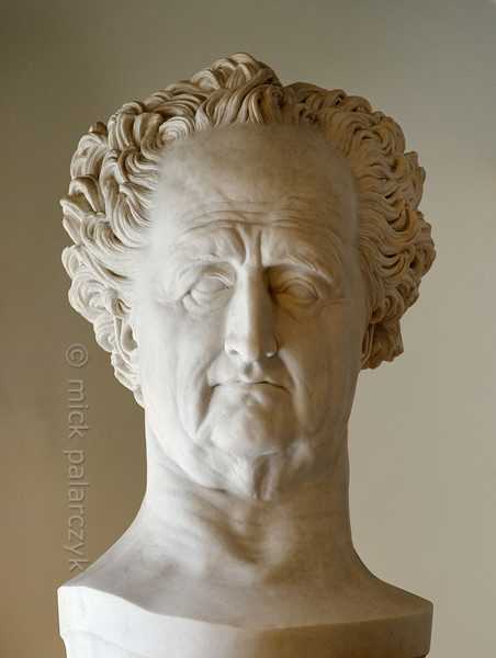 Bust of Goethe in Anna-Amalia Library in Weimar.