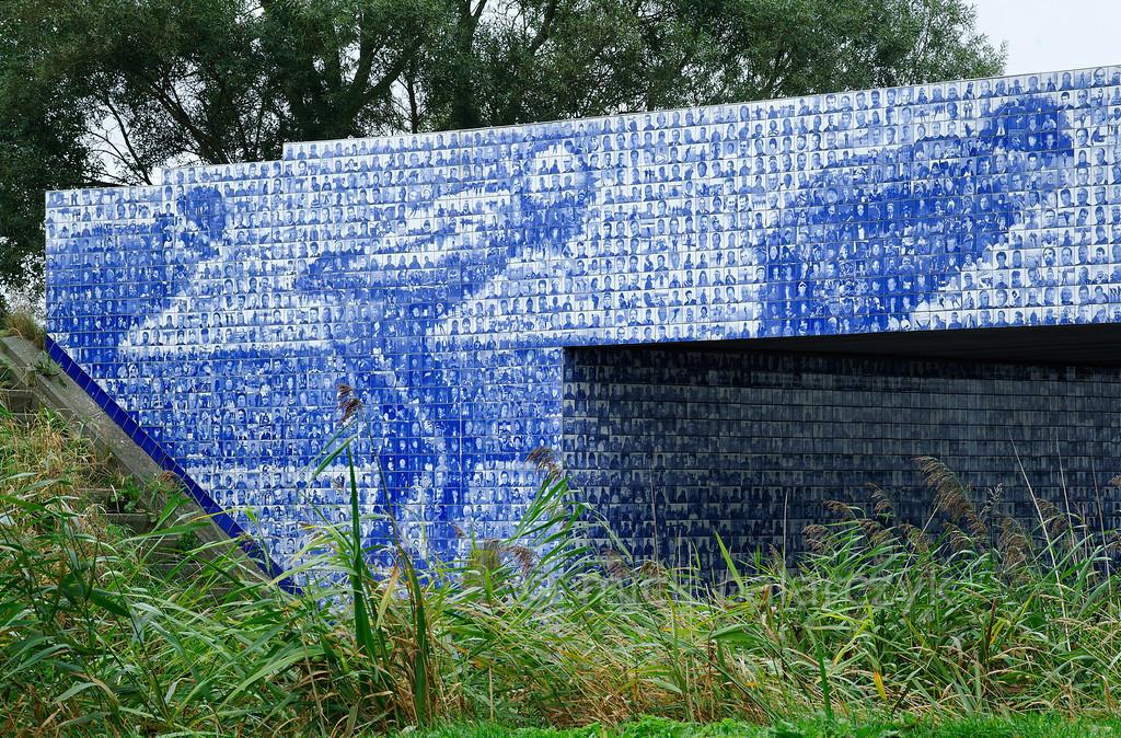 HOLLAND.FRIESLAND 30287] 'Artwork celebrating Elfstedentocht'.