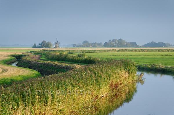 HOLLAND.FRIESLAND 30258] 'Windmill east of Ferwerd'.