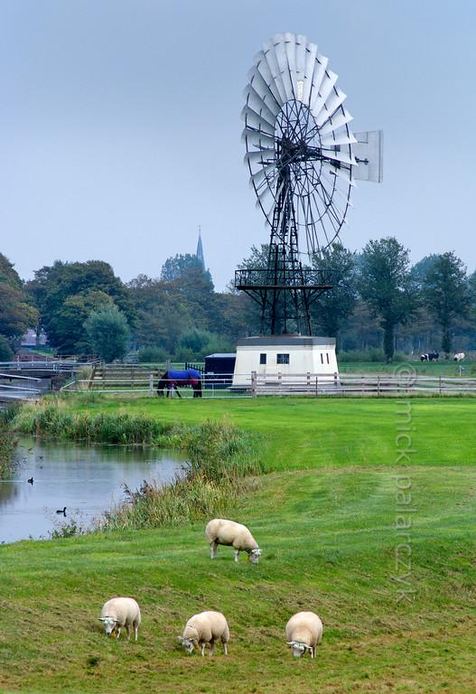 [HOLLAND.FRIESLAND 30144] 'Windpump near Weidum.'