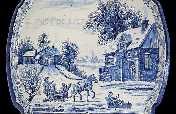 [HOLLAND.FRIESLAND 30204] 'Ceramic winter scene.'