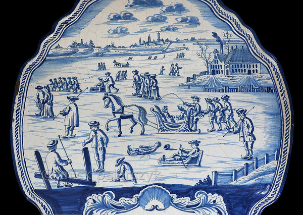 [HOLLAND.FRIESLAND 30203] 'Ceramic winter scene.'