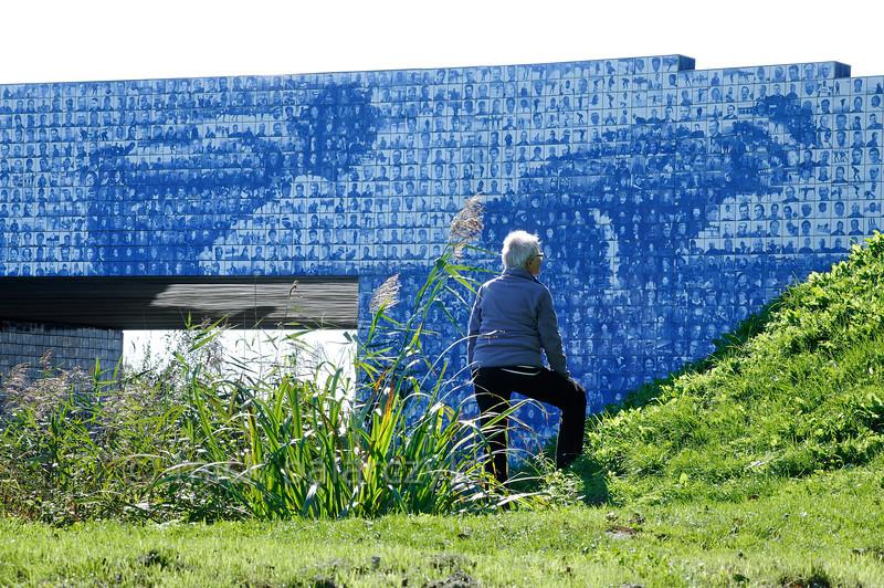 HOLLAND.FRIESLAND 30283] 'Artwork celebrating Elfstedentocht'.