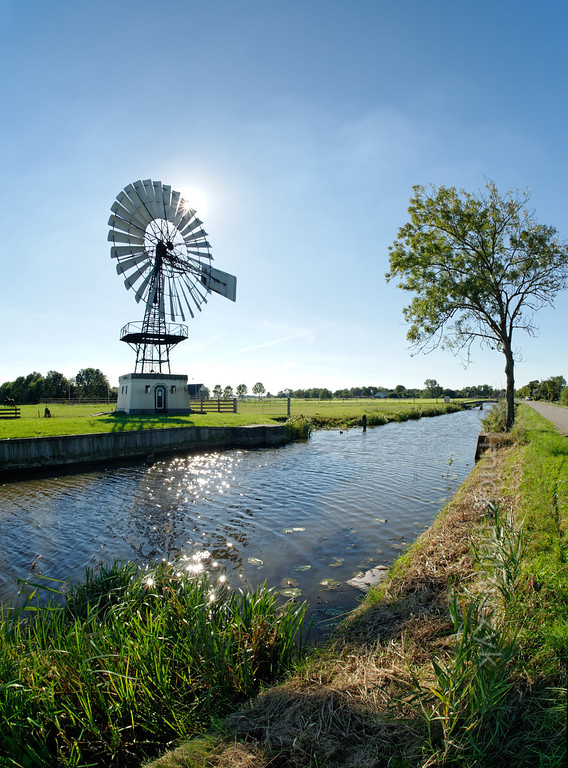 [HOLLAND.FRIESLAND 30143] 'Windpump near Weidum.'