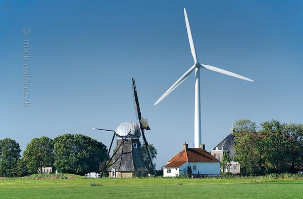 [HOLLAND.FRIESLAND 30228] 'Mills near Baburen.'
