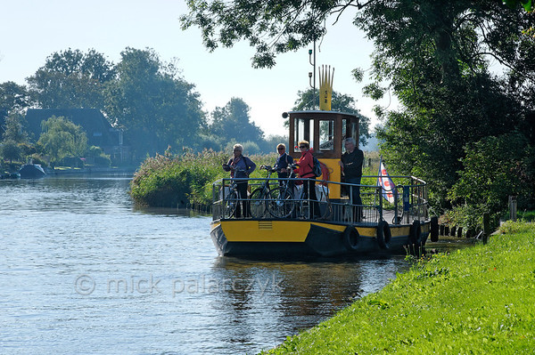 HOLLAND.FRIESLAND 30280] 'Foot ferry at Wijns'.