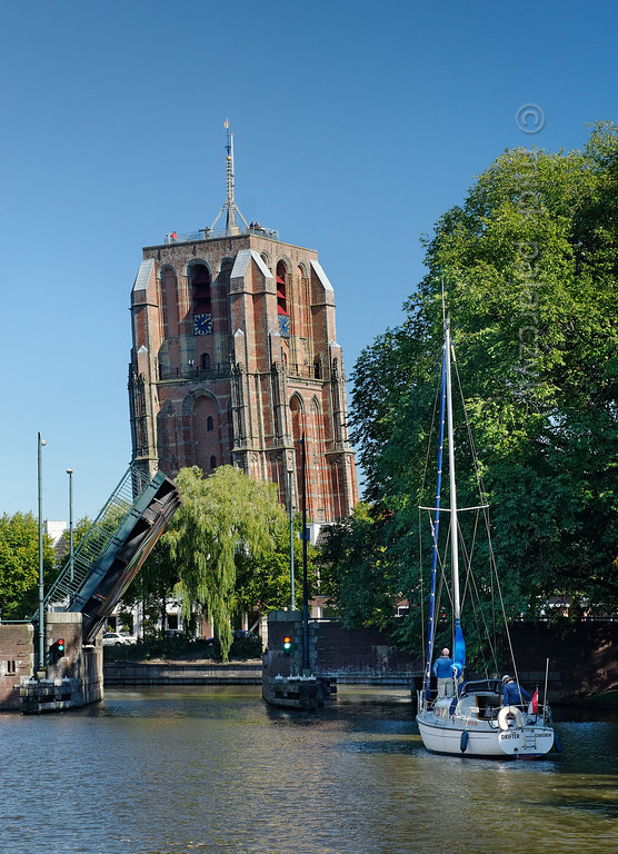 [HOLLAND.FRIESLAND 30140] 'Church tower 'Oldehove' in Leeuwarden.'