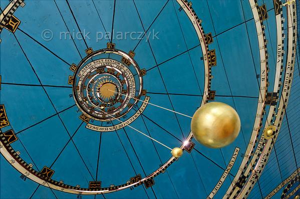 HOLLAND.FRIESLAND 30244] 'Detail of Planetarium ceiling in Franeker.'