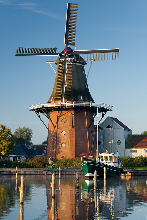 HOLLAND.FRIESLAND 30273] 'Windmill 'De Zwaluw' in Birdaard'.