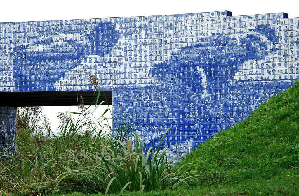 HOLLAND.FRIESLAND 30284] 'Artwork celebrating Elfstedentocht'.