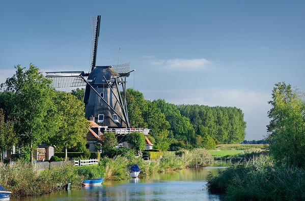 [HOLLAND.FRIESLAND 30233] 'Windmill in Witmarsum.'