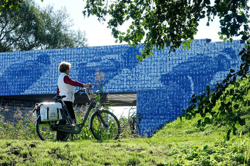 HOLLAND.FRIESLAND 30282] 'Artwork celebrating Elfstedentocht'.