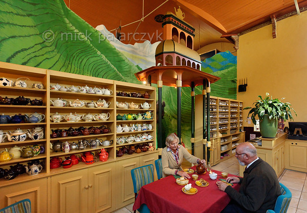"[HOLLAND.GRONINGEN 29451] 'Teahouse in Houwerzijl.'  	A former church building in the village of Houwerzijl houses the ""Theefabriek"", a combination of teahouse and tea museum. Guests of the teahouse can choose from more than three hundred kinds of tea. Photo Mick Palarczyk."