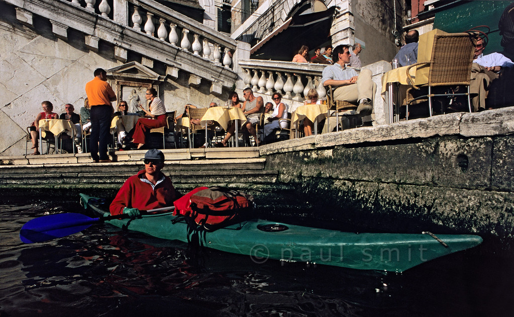 Kayaker on the Canal Grande.