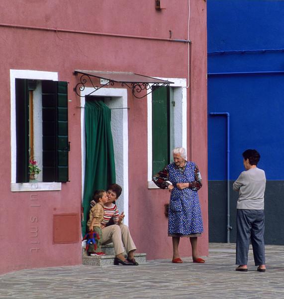 Street scene in Burano.