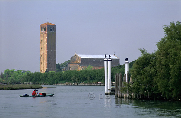 Cathedral of Torcello with kayak.