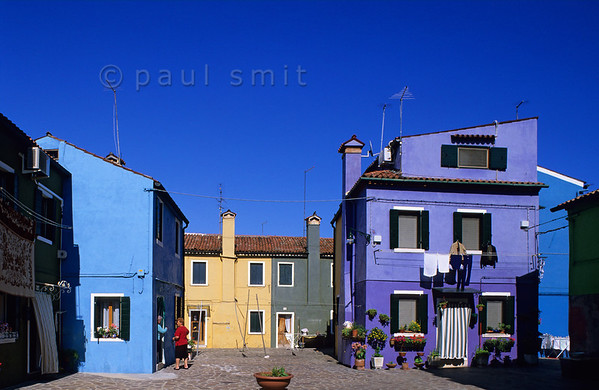 A chat in colourful Burano.