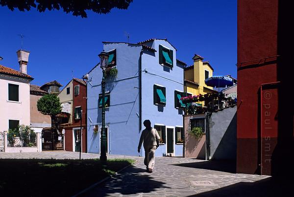 Brightly coloured Burano.