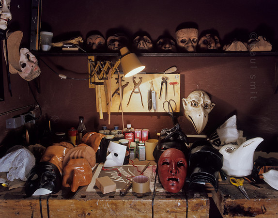 Still life with masks.