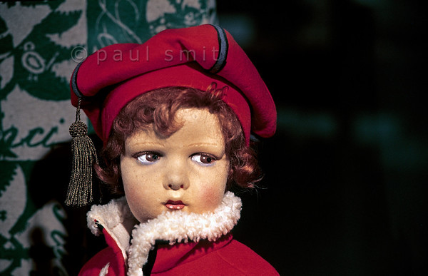 [ITALY.LOMBARDIA 01834]  'Lenci.'  The Rocca Borromeo stronghold near Angera houses a doll museum, showing dolls from all over the world and all ages. Some of the dolls I liked most were Italian, made of felt and dating from the Twenties. Like 'Lenci.' Photo Paul Smit.