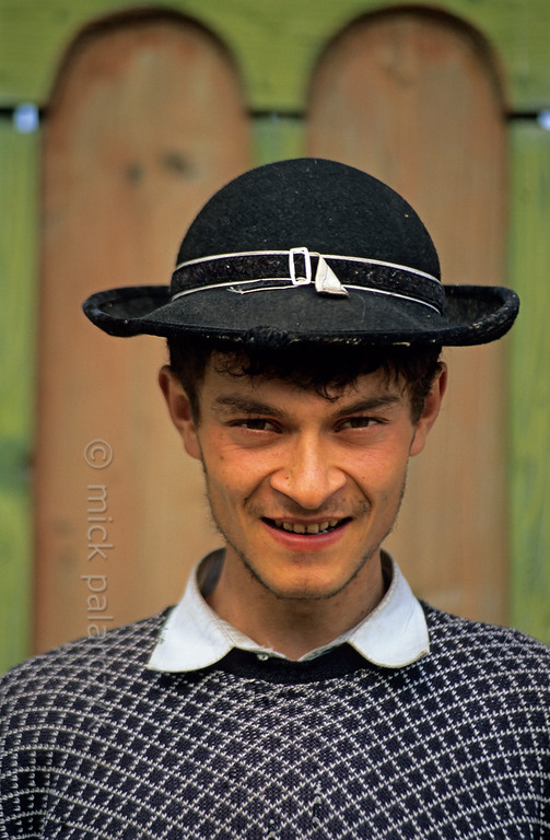 [ROMANIA.TRANSYLVA 24.175] 'Young man at Ighisu Vechi.'  	The South Transylvanian village of Ighisu Vechi is located in the hills between Sibiu and Agnita. Photo Mick Palarczyk.