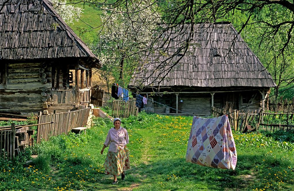 [ROMANIA.MARAMURES 23.880] 'Valeni.'  Valeni, a village in the Iza valley. Photo Mick Palarczyk.