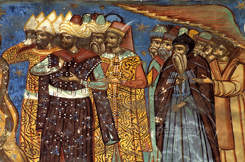 [ROMANIA.MOLDAVIA 24.009] 'Turks at Humor Monastery.'