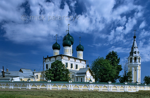 [RUSSIA.GOLDENRING 26.162] 'Cathedral of Tutayev.'  	The small Volga town of Tutayev possesses a 17th century Resurrection Cathedral which preserves movingly beautiful frescoes in its interior. Photo Mick Palarczyk.