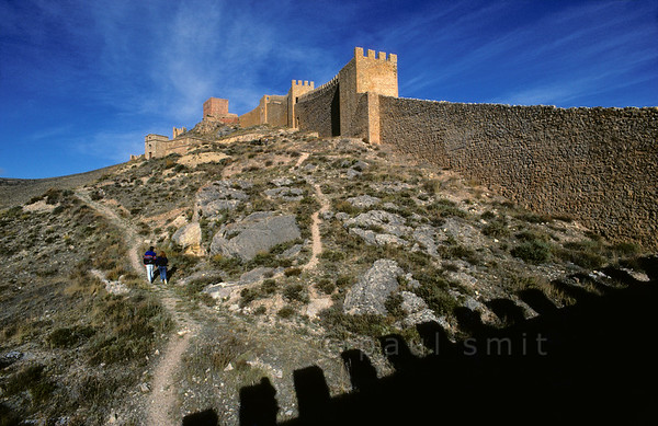 Town wall of Albarracín.