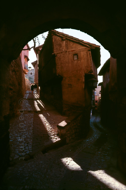 Old streets of Albarracín.
