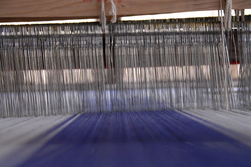 Hand made cloth from the locally grown cotton which is sold in the market.