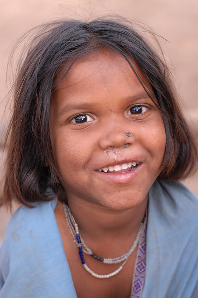 Child in the village in MP/MH.