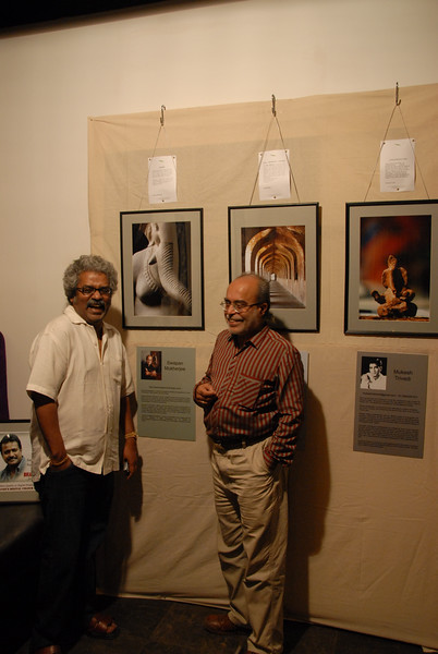 Swapan and Hari Haran share a lighter moment.