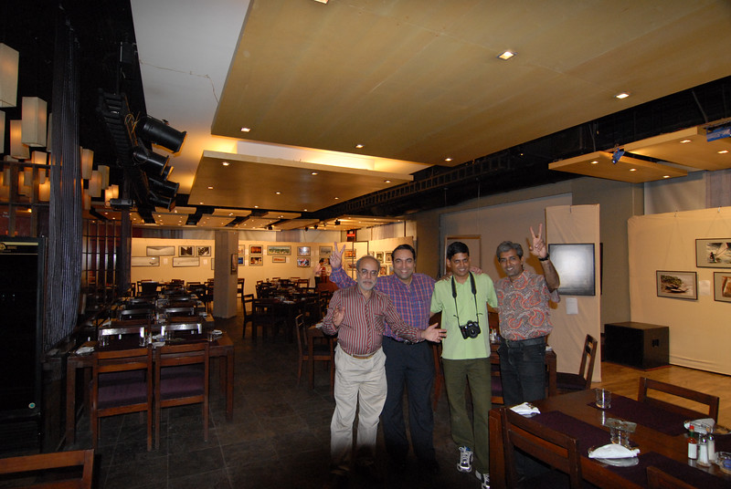 Four photographers from the show. Seen from left to right. Swapan Mukherjee, Suchit Nanda, Venky (Venkatesh Hariharan), and Mukesh Trivedi.