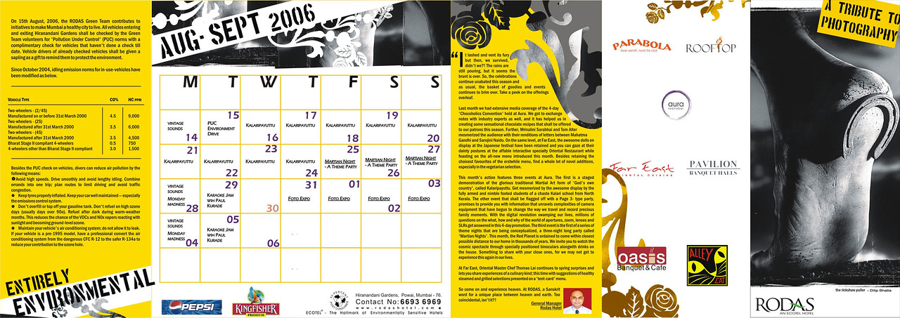 "Invite for the ""Foto Expo"" of Powai Photographers held from 1st September to 3rd September 2006 at Rodas Hotel Powai, Mumbai. Thousands of these flyer were circulated for the show. September 2006."
