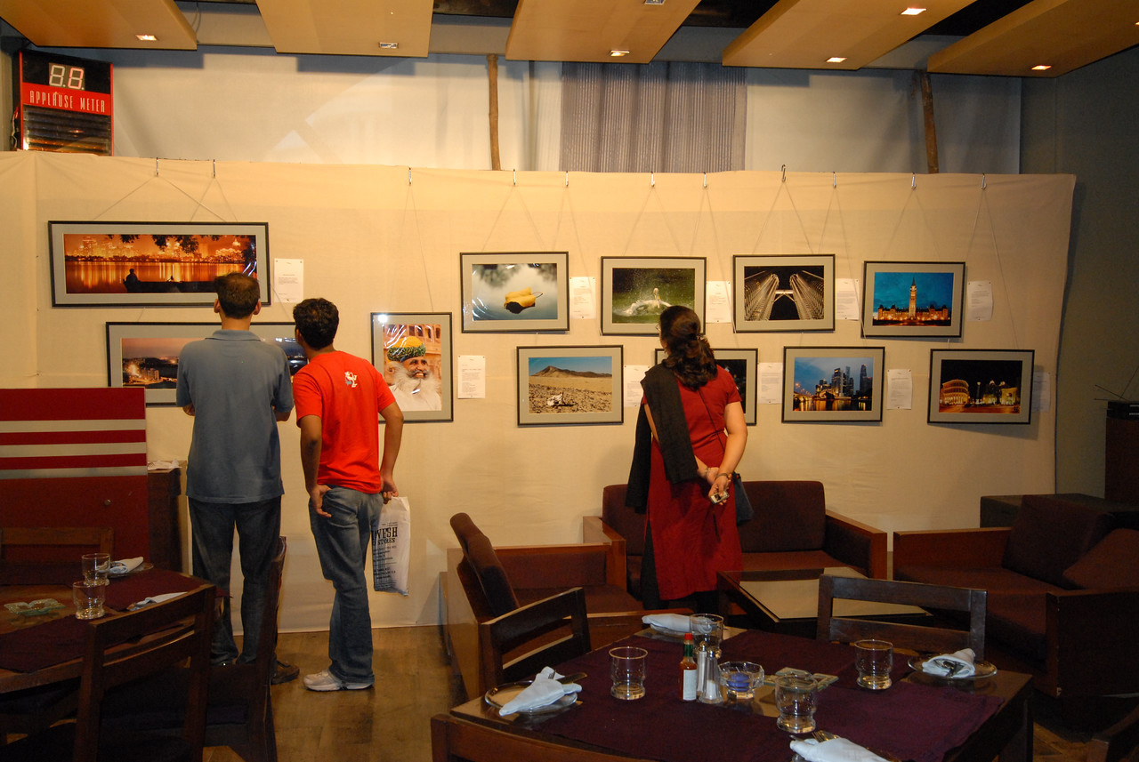 Visitors to the exhibition.