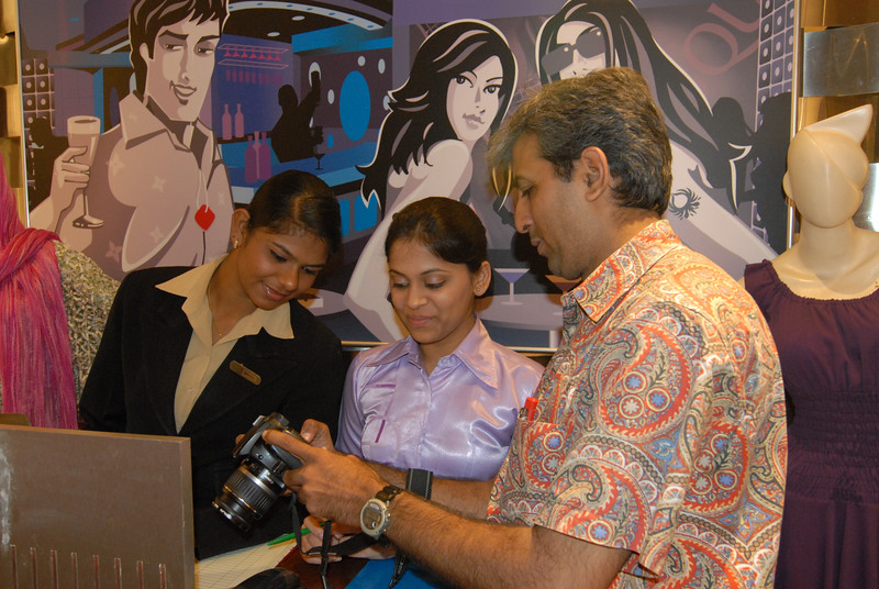 Mukesh Trivedi showing his pictures.