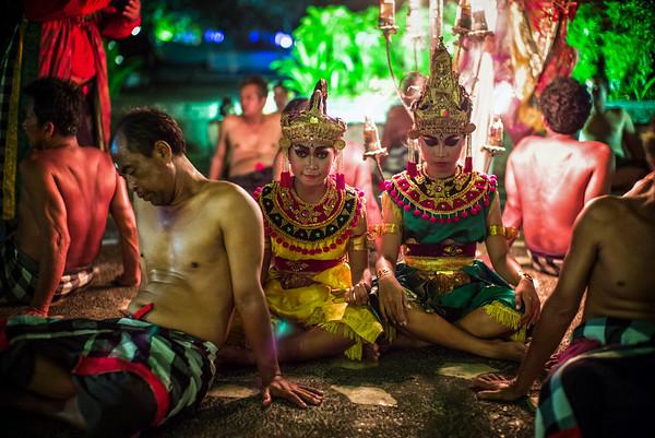 Time to rest. Kecak Dance, Bali
