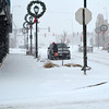 Downtown Effingham during white-out conditions.