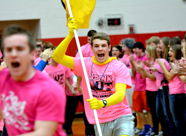 Game-goers donned pink Friday during the Pink Out Basketball Game at St. Anthony Enlow Center to benefit St. Anthony's Memorial Hospital Women's Wellness Center.