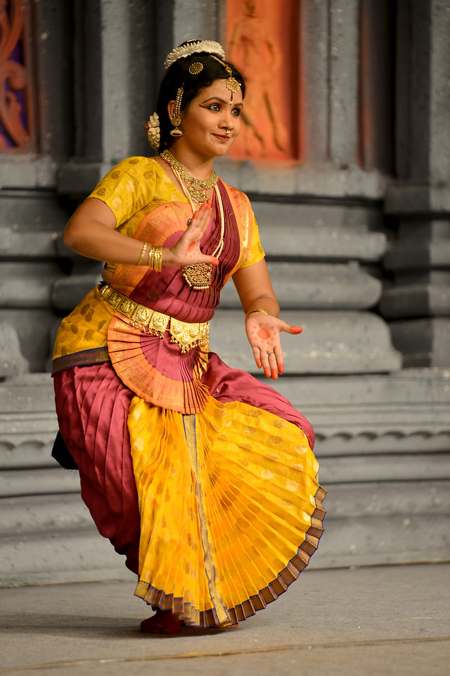 "Bharatham: Nataraja Arts Academy Students of Guru Sirisha,  Bangaluru performing at Chidambaram Natyanjali Dance Festival 2015 held at Chidambaram in February 2015. The festival is known for its serenity and uniqueness of the devotion of the dancers dedicating their ""Natya"" (Dance) as ""Anjali"" (Offering) and worship to the Lord of Dance - Lord Nataraja (Shiva)."