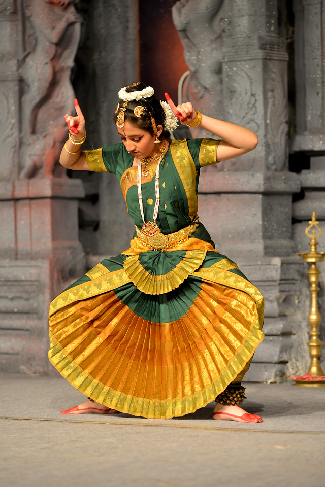 "Bharatham: Nataraja Arts Academy Students of Guru Sirisha,  Bangaluru performing at Chidambaram Natyanjali Dance Festival 2015 held at Chidambaram in February 2015. The dancers dedicate their ""Natya"" (Dance) as ""Anjali"" (Offering) and worship to the Lord of Dance - Lord Nataraja (Shiva)."