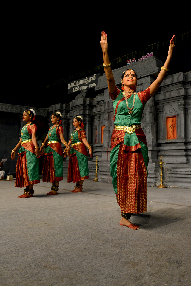 "Performance by Sri Sai Nataraja Academy of Kuchipudi Dance, Hyderabad. Guru Ms Lavanya Basava. <br /> Students danced at Chidambaram Natyanjali Dance Festival 2015 held at Chidambaram in February 2015. The festival is known for its serenity and uniqueness of the devotion of the dancers dedicating their ""Natya"" (Dance) as ""Anjali"" (Offering) and worship to the Lord of Dance - Lord Nataraja (Shiva)."