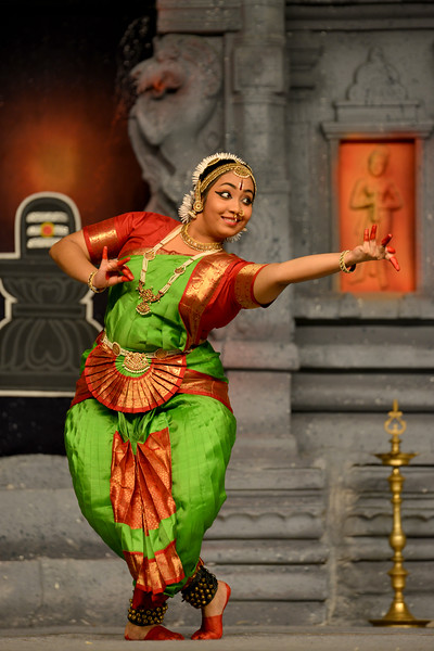 """Kuchupudi: K. Shanmugasundarm & Group, Chennai.<br /> Performance at Chidambaram Natyanjali Dance Festival 2015 held at Chidambaram in February 2015. The festival is known for its serenity and uniqueness of the devotion of the dancers dedicating their """"Natya"""" (Dance) as """"Anjali"""" (Offering) and worship to the Lord of Dance - Lord Nataraja (Shiva)."""