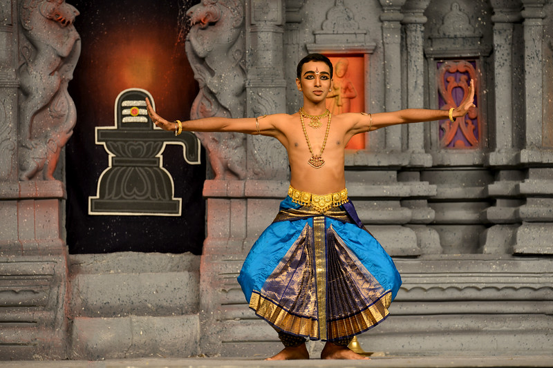 """Bharatham: Paramjothy Muthuvelu, Malaysia performing at Chidambaram Natyanjali Dance Festival 2015 held at Chidambaram in February 2015. The festival is known for its serenity and uniqueness of the devotion of the dancers dedicating their """"Natya"""" (Dance) as """"Anjali"""" (Offering) and worship to the Lord of Dance - Lord Nataraja (Shiva)."""