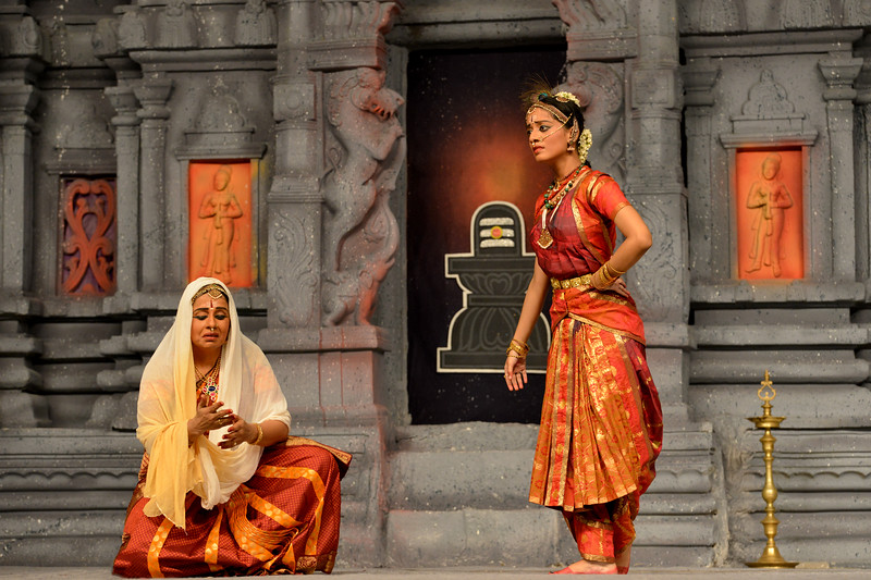 """Arupadai Veedu. Thejas School, Chennai. Guru: Srekala Bharath.<br /> Performance at Chidambaram Natyanjali Dance Festival 2015 held at Chidambaram in February 2015. The festival is known for its serenity and uniqueness of the devotion of the dancers dedicating their """"Natya"""" (Dance) as """"Anjali"""" (Offering) and worship to the Lord of Dance - Lord Nataraja (Shiva)."""