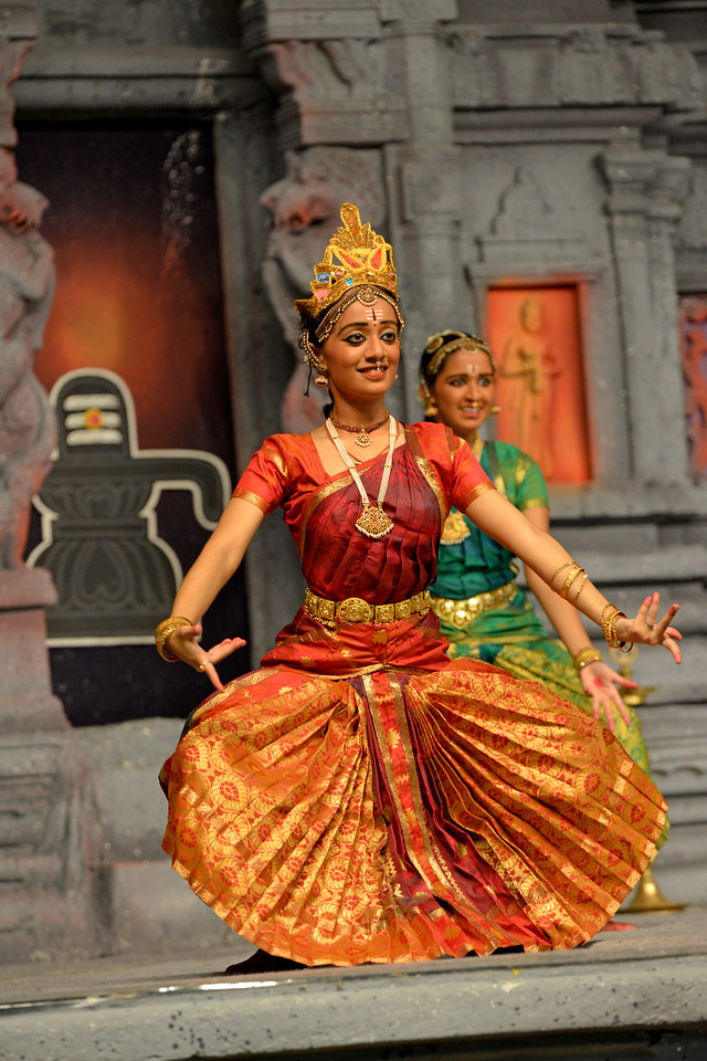 "Arupadai Veedu. Thejas School, Chennai. Guru: Srekala Bharath.<br /> Performance at Chidambaram Natyanjali Dance Festival 2015 held at Chidambaram in February 2015. The festival is known for its serenity and uniqueness of the devotion of the dancers dedicating their ""Natya"" (Dance) as ""Anjali"" (Offering) and worship to the Lord of Dance - Lord Nataraja (Shiva)."